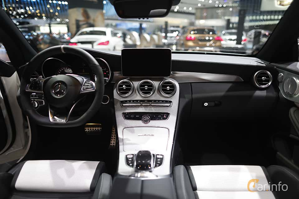 Interior of Mercedes-Benz AMG C 63 S Cabriolet 4.0 V8 , 510ps, 2017 at North American International Auto Show 2017