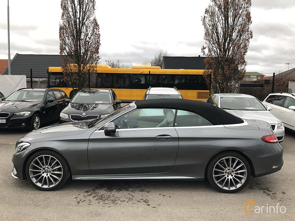 Side of Mercedes-Benz C 180 Cabriolet 1.6 9G-Tronic, 156ps, 2017