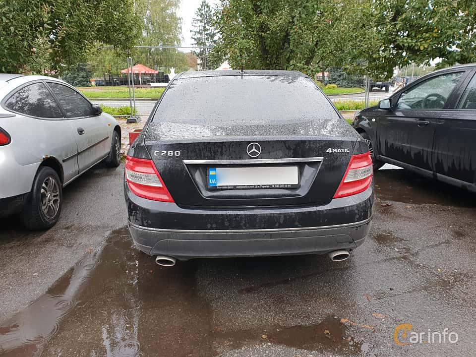 Bak av Mercedes-Benz C 280 4MATIC 7G-Tronic, 231ps, 2007 på Old Car Land no.2 2018