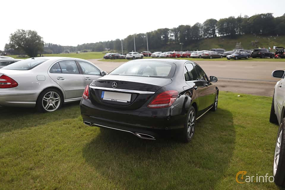 Back/Side of Mercedes-Benz C 350 e  7G-Tronic Plus, 279ps, 2017 at Autoropa Racing day Knutstorp 2019