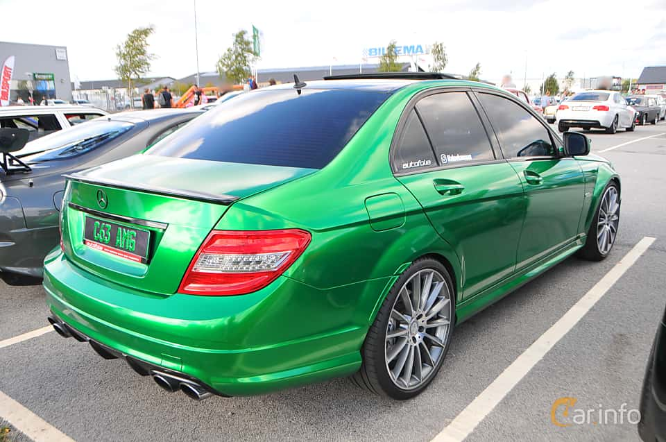 Back/Side of Mercedes-Benz C 63 AMG 6.3 V8 457ps, 2009 at Biltema Gatbilar Lund 2018