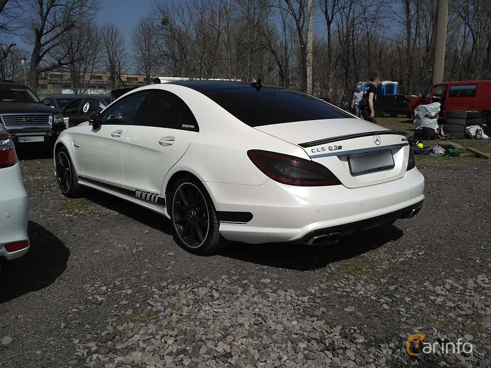 Back/Side of Mercedes-Benz CLS 63 AMG S 4MATIC  , 585ps, 2013 at Ltava Time Attack 1st Stage