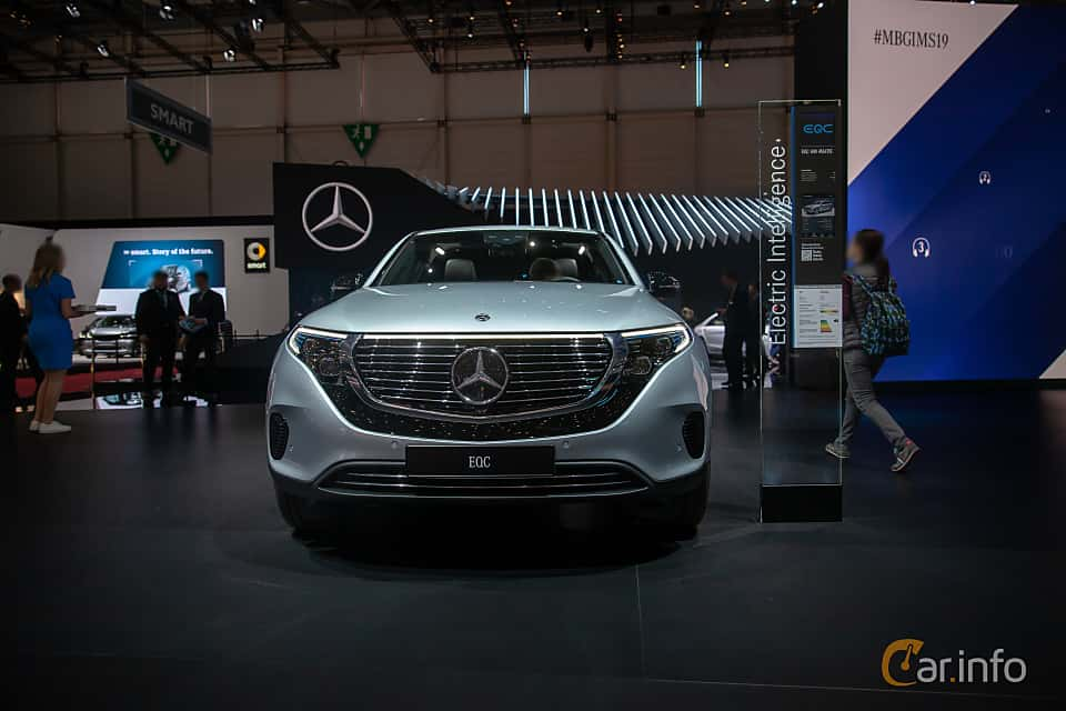 Fram av Mercedes-Benz EQC 400  Single Speed, 408ps, 2019 på Geneva Motor Show 2019
