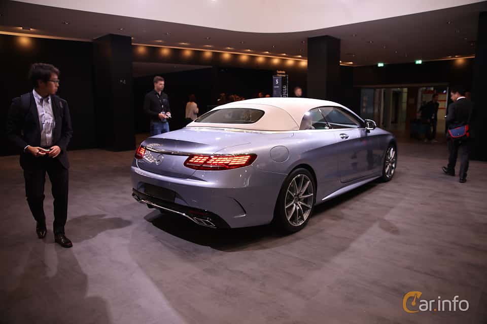Back/Side of Mercedes-Benz S 560 Cabriolet  9G-Tronic, 469ps, 2018 at IAA 2017