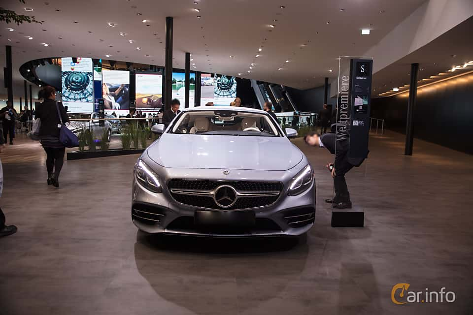 Front  of Mercedes-Benz S 560 Cabriolet  9G-Tronic, 469ps, 2018 at IAA 2017