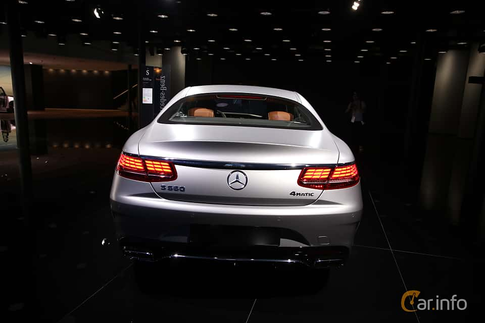 Back of Mercedes-Benz S 560 4MATIC Coupé  9G-Tronic, 469ps, 2018 at IAA 2017