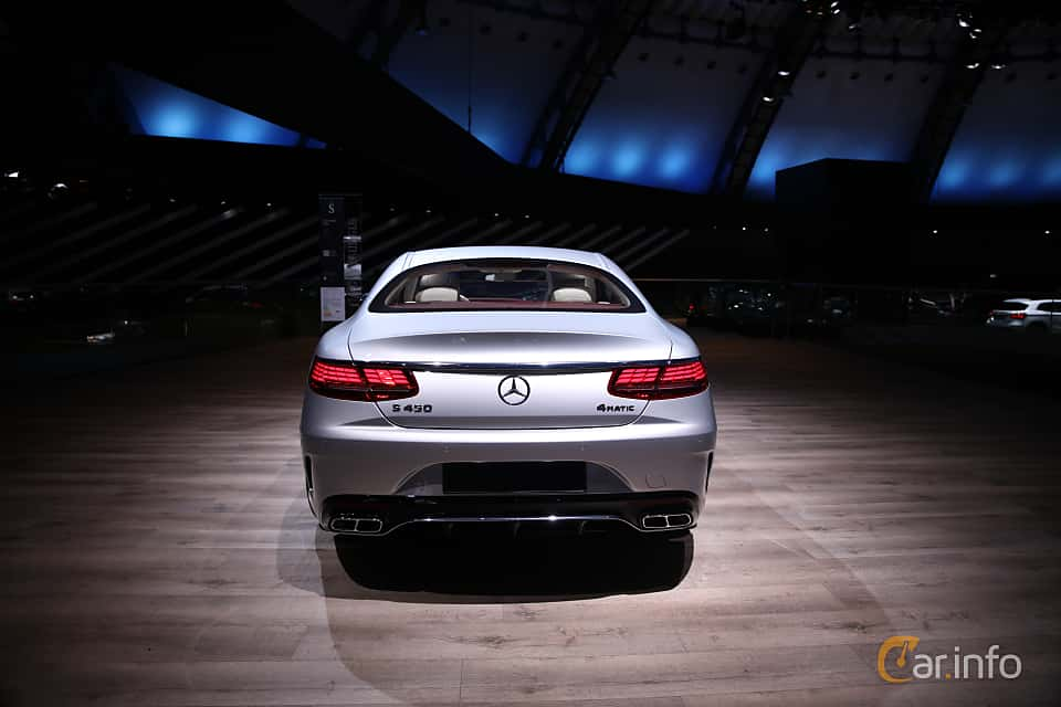 Back of Mercedes-Benz S 450 4MATIC Coupé  9G-Tronic, 367ps, 2018 at IAA 2017