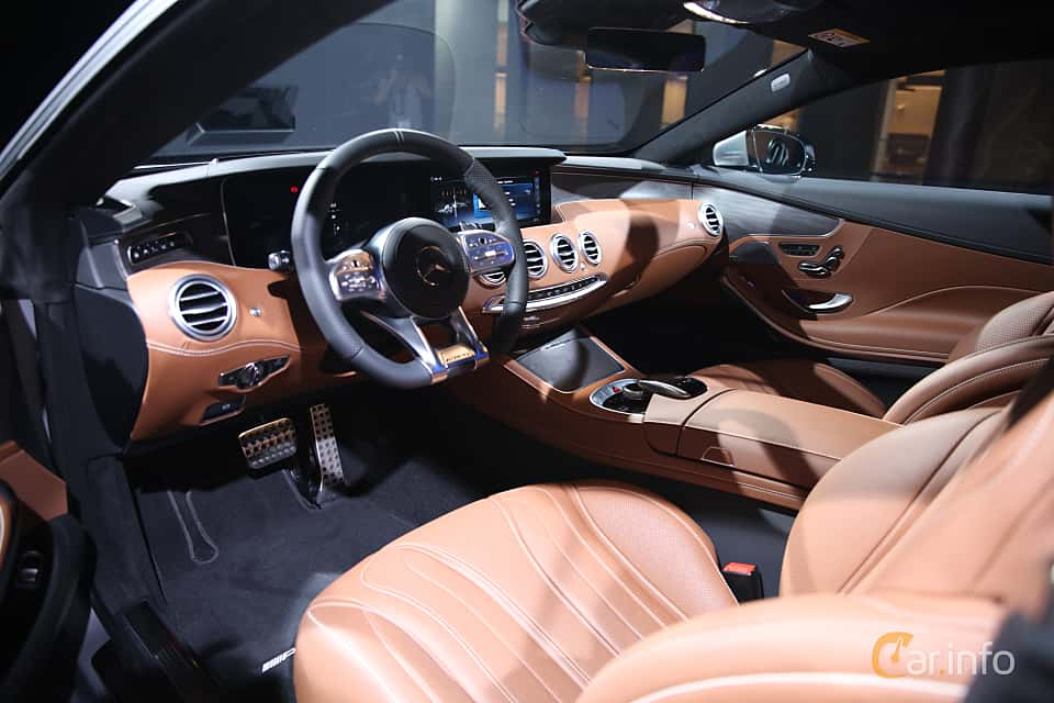 Interior of Mercedes-Benz S 560 4MATIC Coupé  9G-Tronic, 469ps, 2018 at IAA 2017