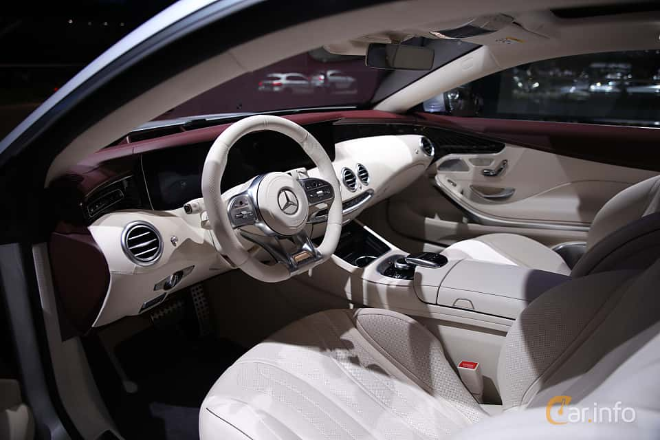 Interior of Mercedes-Benz S 450 4MATIC Coupé  9G-Tronic, 367ps, 2018 at IAA 2017