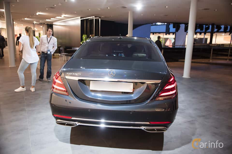 Back of Mercedes-Benz S-Class Maybach 2018 at IAA 2017