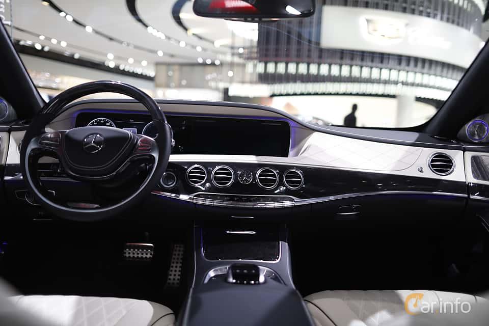 Interior of Mercedes-Benz S 500 e L 3.0 V6 7G-Tronic Plus, 442ps, 2017 at North American International Auto Show 2017