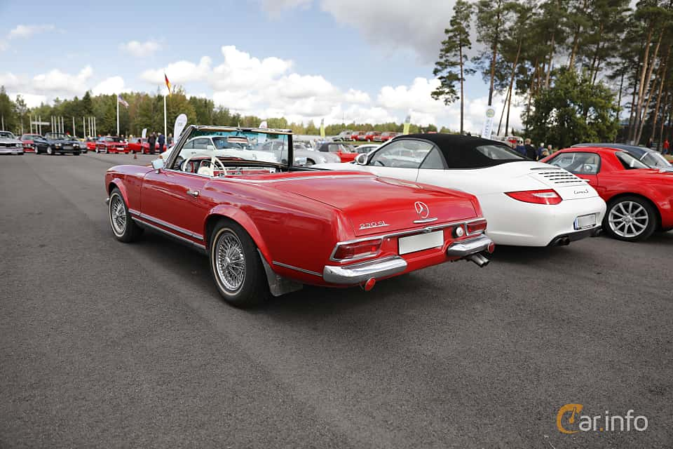 Back/Side of Mercedes-Benz 230 SL  Manual, 150ps, 1965 at Nostalgia Racing Days / Mantorp Classic Festi 2018