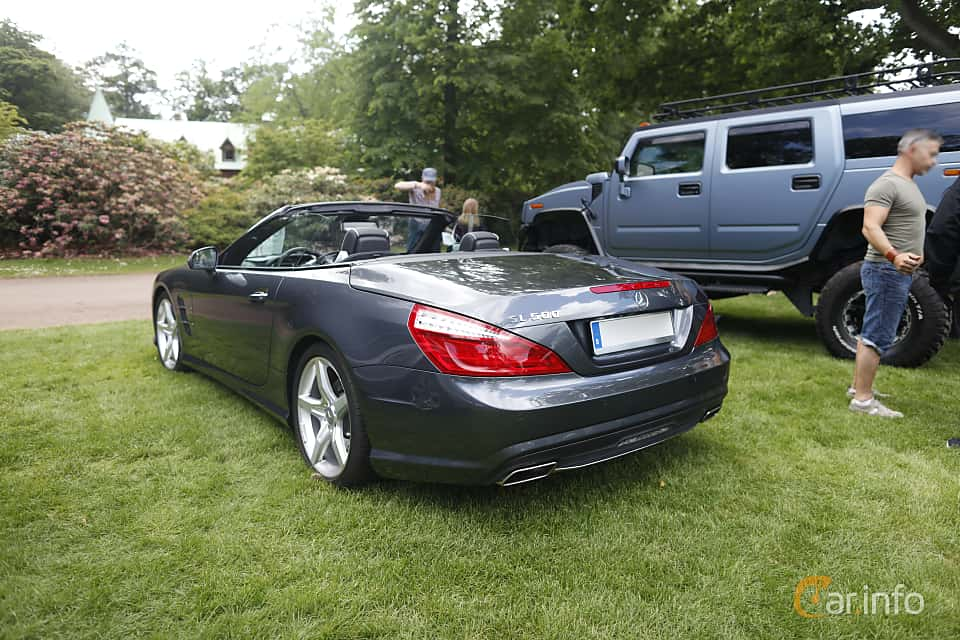 Back/Side of Mercedes-Benz SL 500  7G-Tronic Plus, 435ps, 2013 at Sofiero Classic 2019