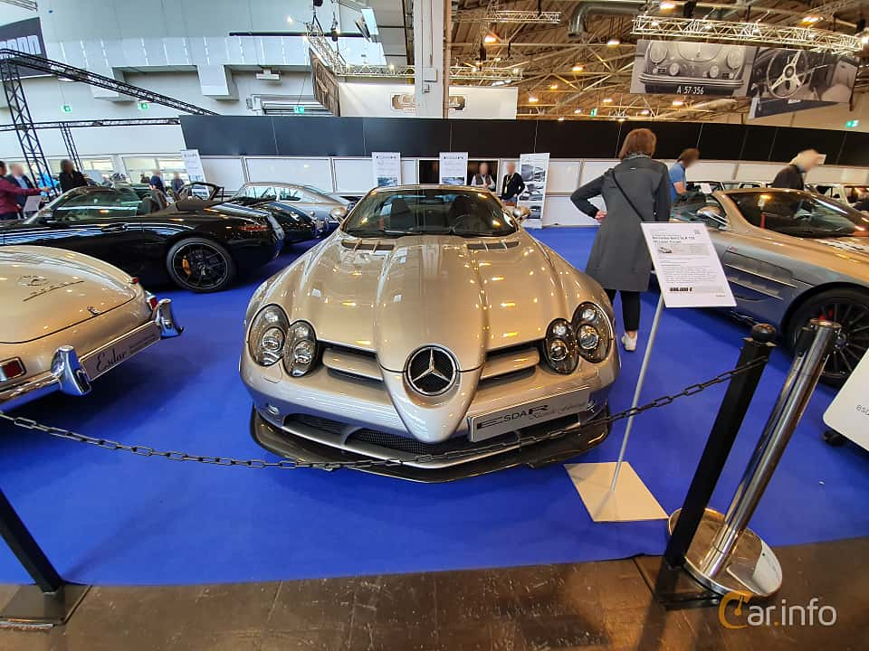 Front  of Mercedes-Benz SLR 722 Edition  Automatic, 650ps, 2007 at Techno Classica Essen 2019