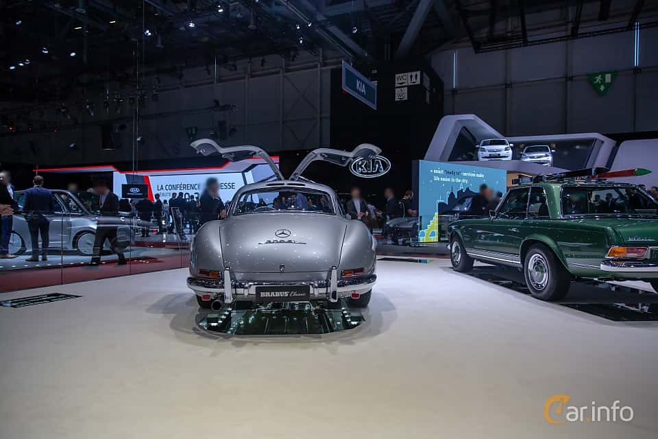 Back of Mercedes-Benz 300 SL  Manual, 215ps, 1955 at Geneva Motor Show 2019