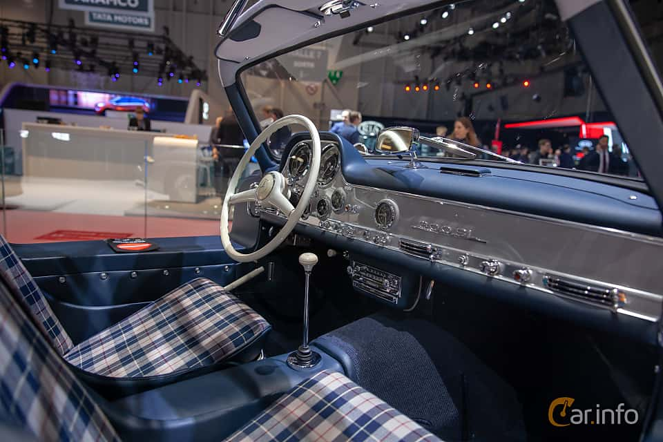 Interior of Mercedes-Benz 300 SL  Manual, 215ps, 1955 at Geneva Motor Show 2019