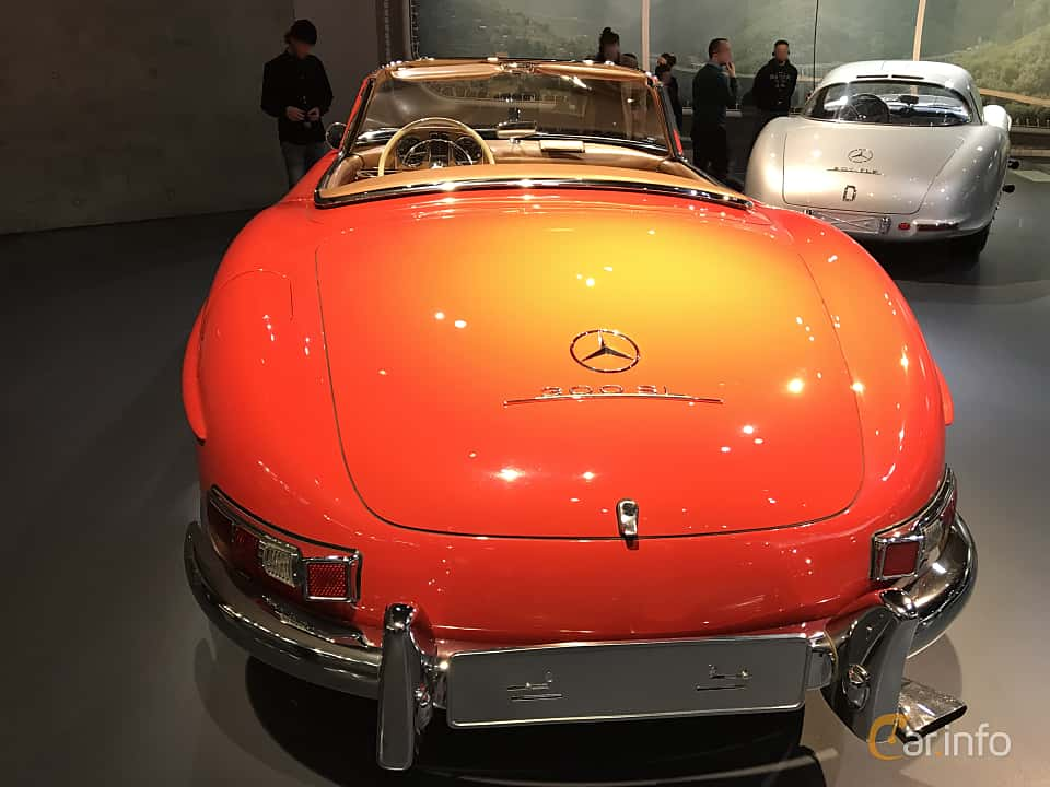 Back of Mercedes-Benz 300 SL Roadster  Manual, 225ps, 1962
