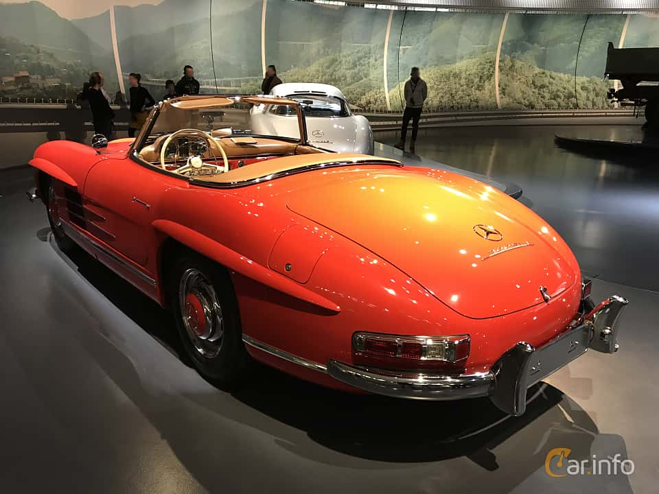 Back/Side of Mercedes-Benz 300 SL Roadster  Manual, 225ps, 1962