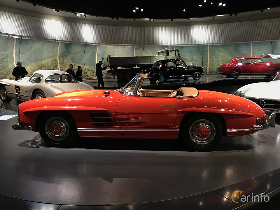 Side  of Mercedes-Benz 300 SL Roadster  Manual, 225ps, 1962