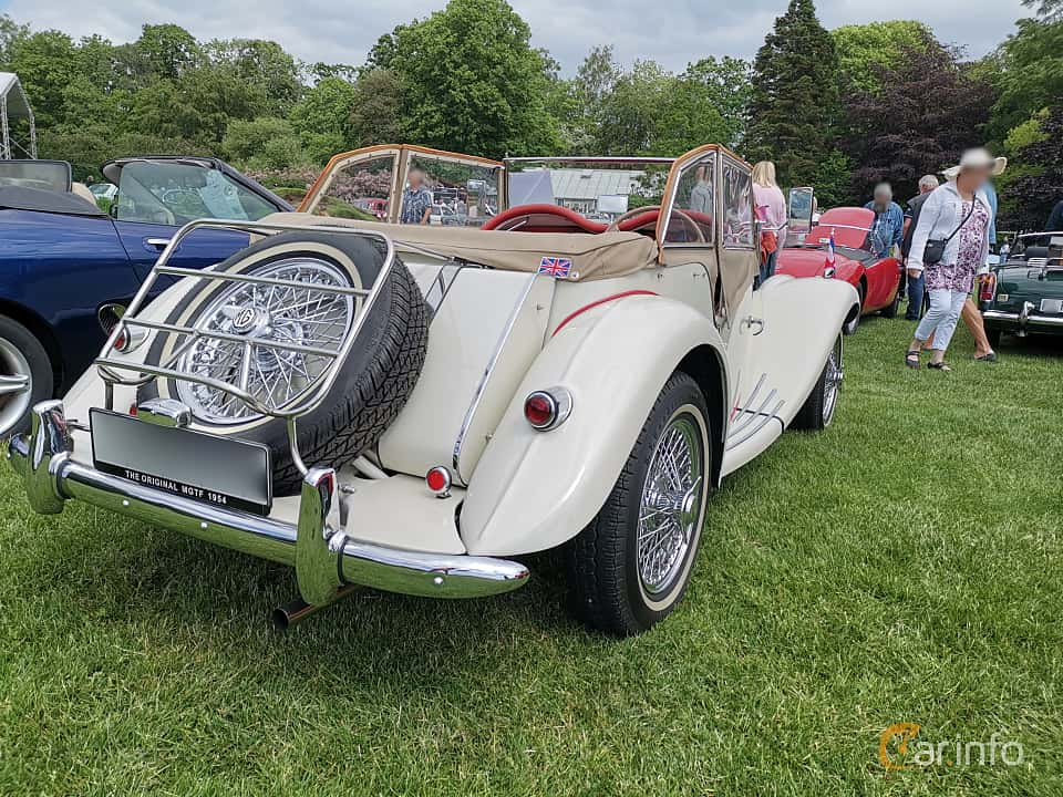 Back/Side of MG TF Midget 1.25 Manual, 57ps, 1954 at Sofiero Classic 2019