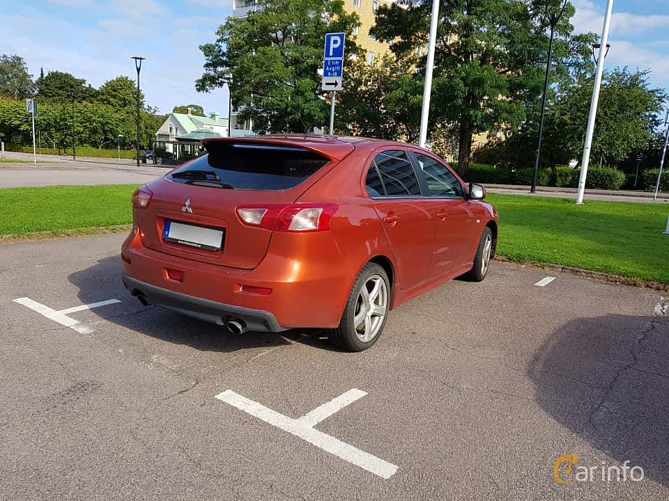 Back/Side of Mitsubishi Lancer Sportback Ralliart 2.0 Turbo 4WD DCT, 241ps, 2010