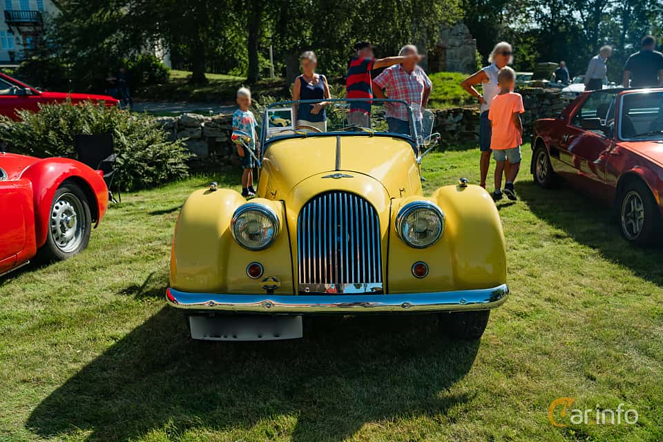 Front  of Morgan Plus 4 2-Seater 2.0 Manual, 106ps, 1967 at Sportbilsklassiker Stockamöllan 2019