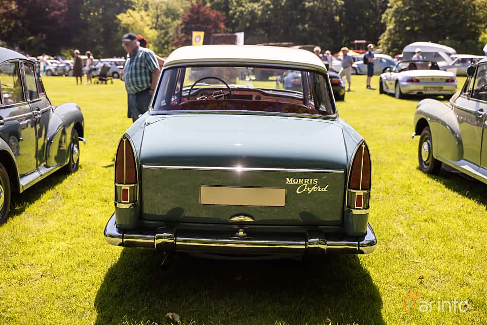Back of Morris Oxford 1.5 Manual, 54ps, 1959 at Sofiero Classic 2017