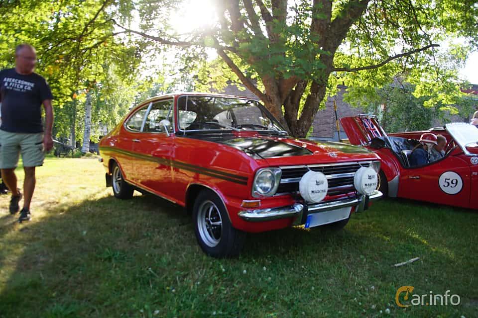 Front/Side  of Opel Rallye-Kadett 1900 S 1.9 Manual, 90ps, 1970 at Onsdagsträffar på Gammlia Umeå 2019 vecka 30