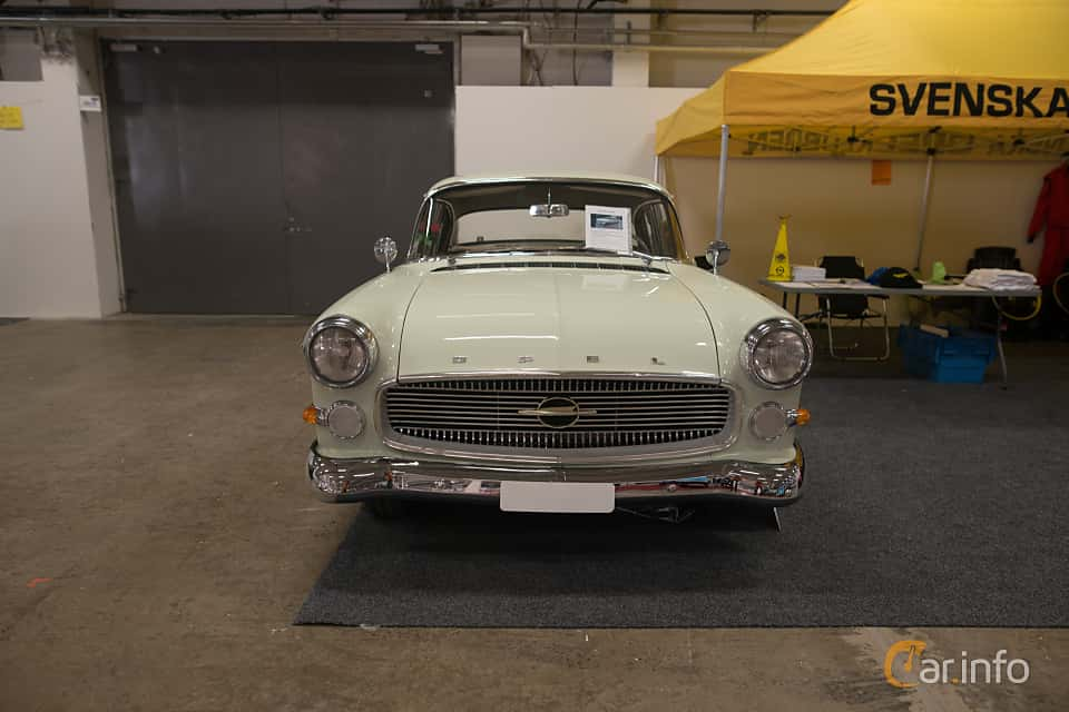 Front  of Opel Kapitän 4-door Sedan 2.5 Manual, 80ps, 1959 at Bilsport Performance & Custom Motor Show 2018