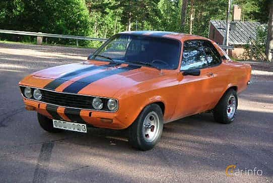 Front/Side  of Opel Manta 1.9 Manual, 90ps, 1971