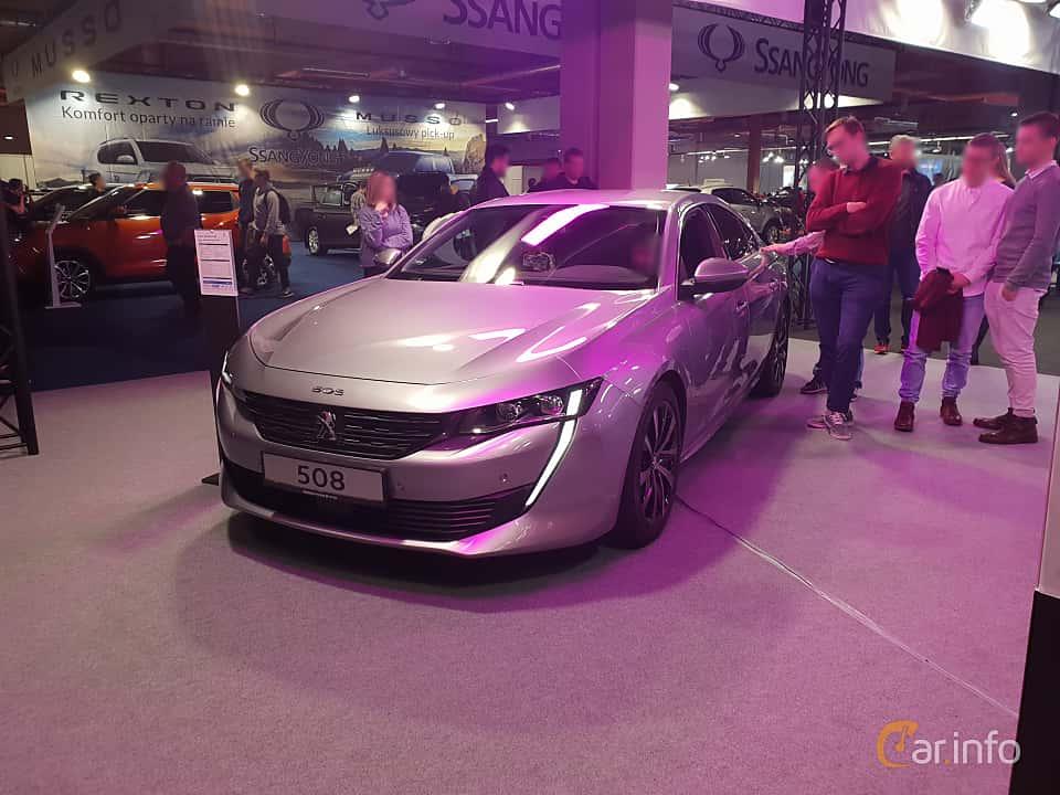 Front/Side  of Peugeot 508 2018 at Warsawa Motorshow 2018