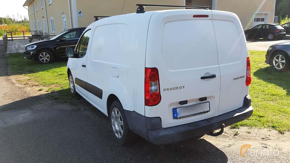 Back/Side of Peugeot Partner Van 1.6 HDi Manual, 90ps, 2009