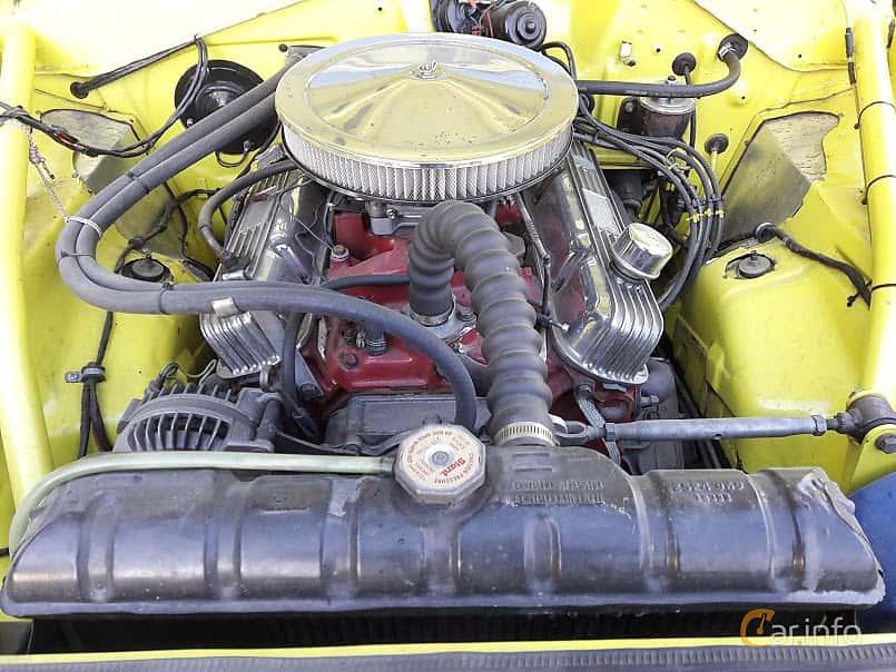 Engine compartment  of Plymouth Barracuda Coupé 5.2 V8 TorqueFlite, 233ps, 1969