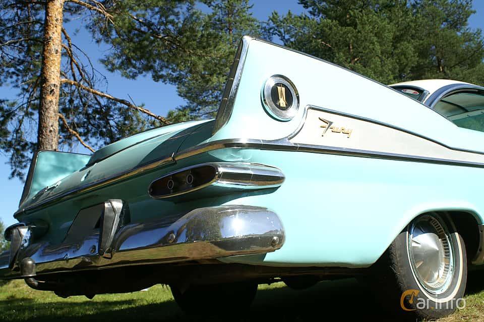 Close-up of Plymouth Sport Fury 2-door Hardtop 5.9 V8 TorqueFlite, 309ps, 1959