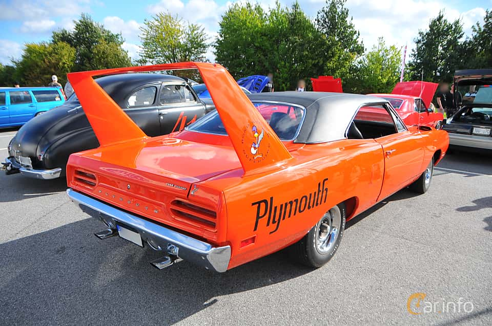 Back/Side of Plymouth Road Runner Superbird 7.2 V8 TorqueFlite, 375ps, 1970 at Biltema Gatbilar Lund 2018