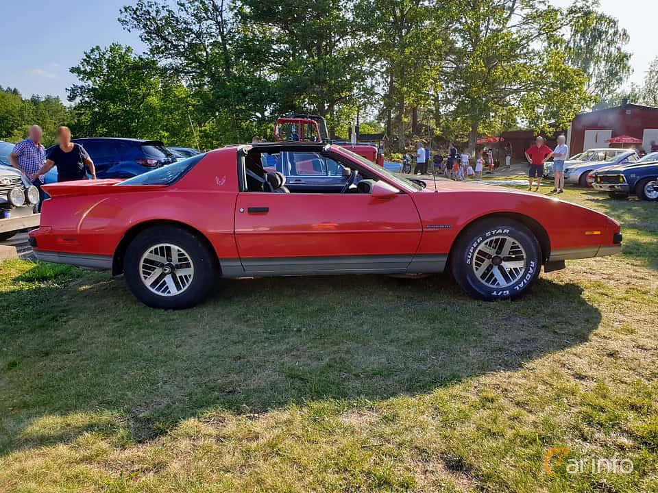 Side  of Pontiac Firebird 2.8 V6 Automatic, 135ps, 1989 at Fordonsträffar i Flen v.30 / 2019