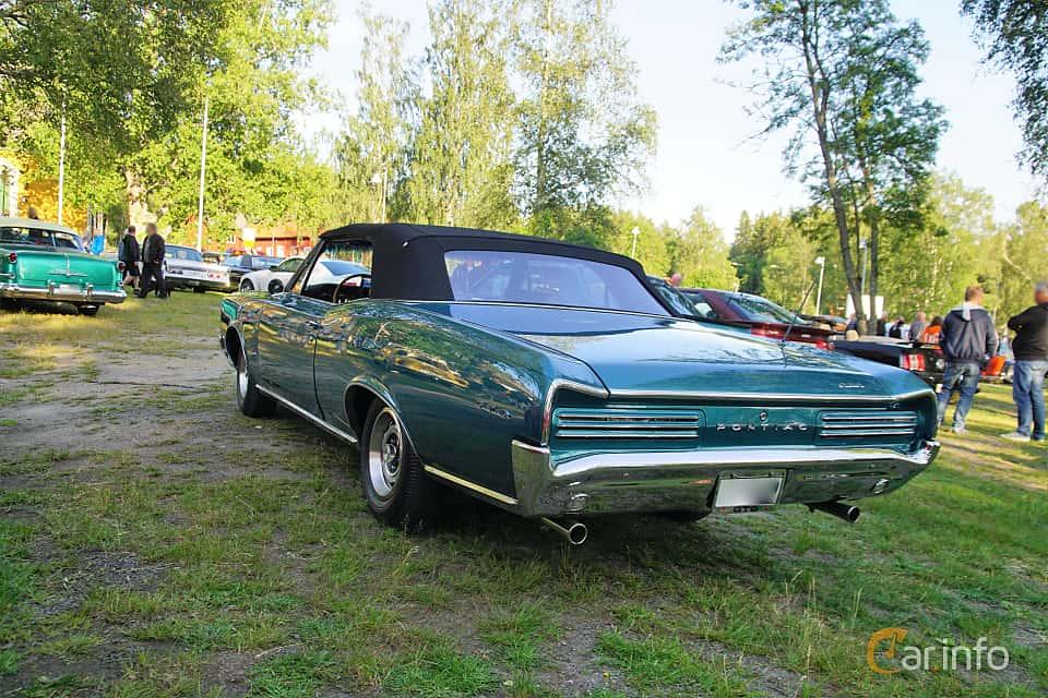 Back/Side of Pontiac GTO Convertible 6.4 V8 Hydra-Matic, 329ps, 1966 at Onsdagsträffar på Gammlia Umeå 2019 vecka 28