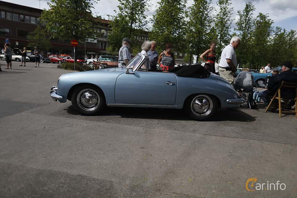 Side  of Porsche 356 1600 S-90 Coupé 1.6 Manual, 90ps, 1960 at Riksettanrallyt 2017
