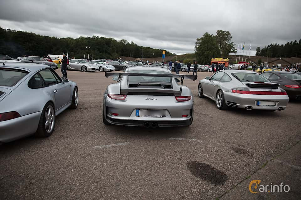Back of Porsche 911 GT3 RS 4.0 H6 PDK, 500ps, 2016 at Autoropa Racing day Knutstorp 2018