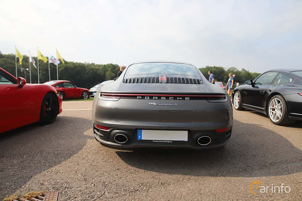 Back of Porsche 911 Carrera S  PDK, 450ps, 2020 at Autoropa Racing day Knutstorp 2019