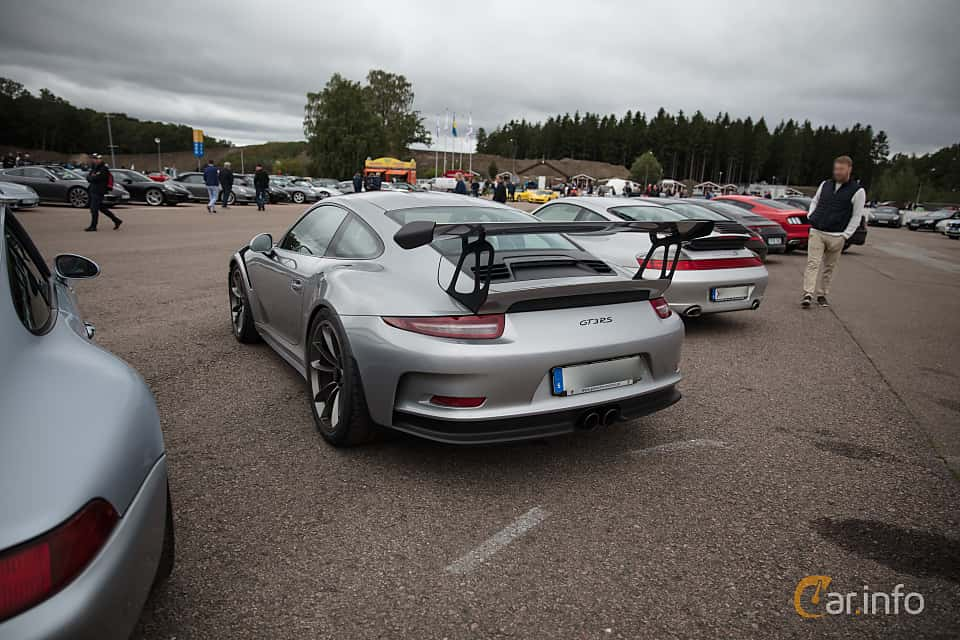 Back/Side of Porsche 911 GT3 RS 4.0 H6 PDK, 500ps, 2016 at Autoropa Racing day Knutstorp 2018