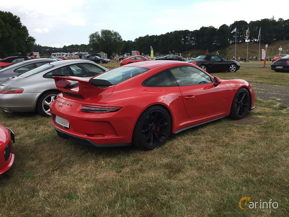 Back/Side of Porsche 911 GT3 4.0 H6 Manual, 500ps, 2018 at Svenskt sportvagnsmeeting 2018
