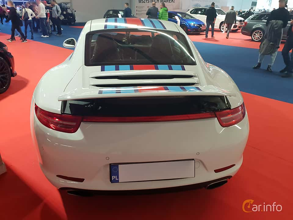 Back of Porsche 911 Carrera 4S 3.8 H6 4 400ps, 2012 at Warsawa Motorshow 2018