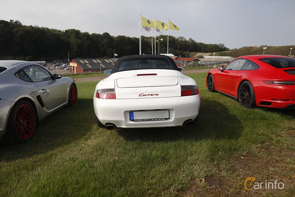 Back of Porsche 911 Carrera Cabriolet  Manual, 300ps, 2001 at Autoropa Racing day Knutstorp 2019