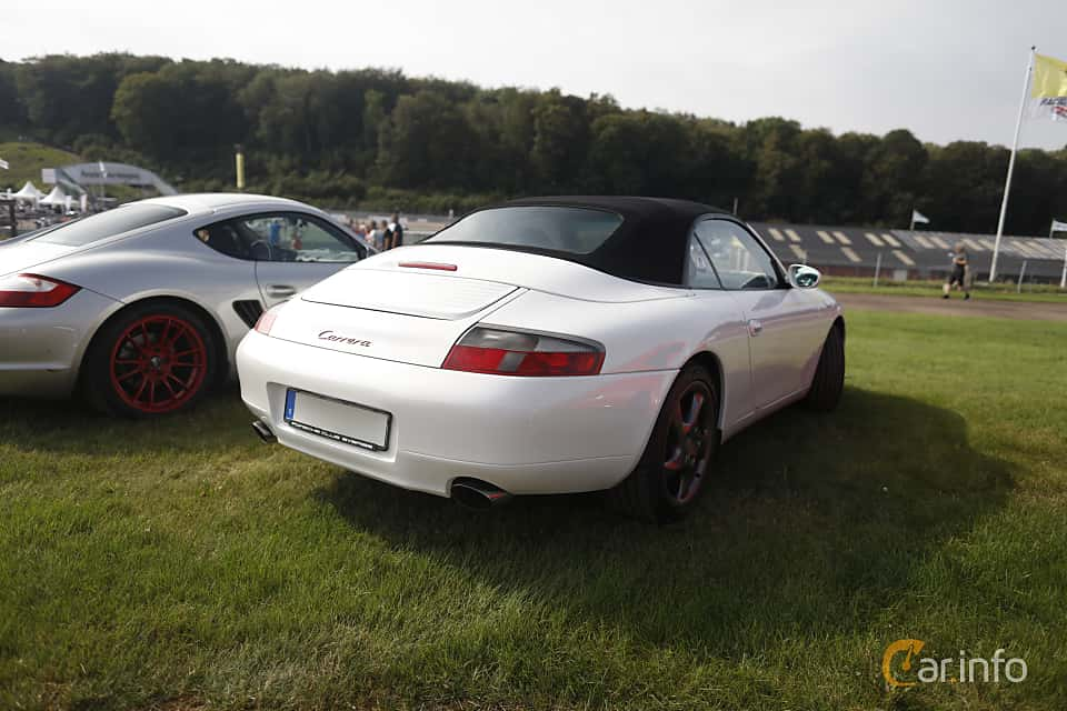 Back/Side of Porsche 911 Carrera Cabriolet  Manual, 300ps, 2001 at Autoropa Racing day Knutstorp 2019