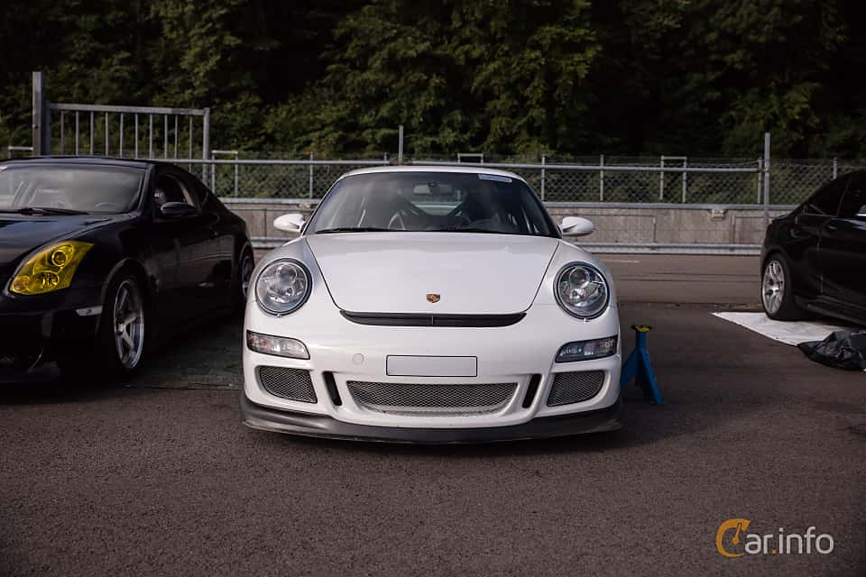 Front  of Porsche 911 GT3 3.6 H6 Manual, 415ps, 2007 at JapTuning Trackday 2018 Knutstorp