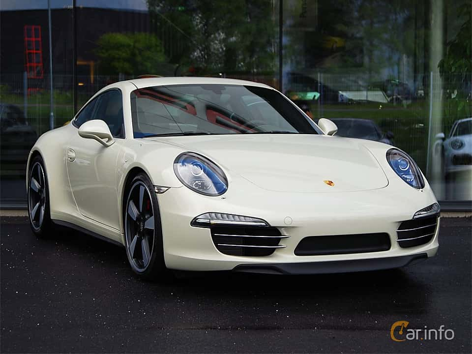 Front/Side  of Porsche 911 Carrera S 3.8 H6 Manual, 400ps, 2014