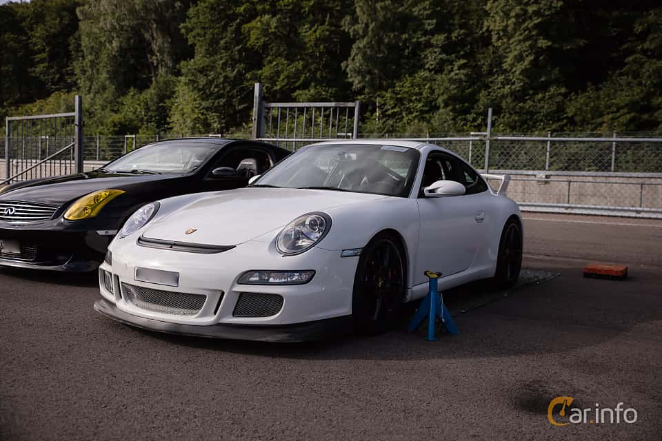 Front/Side  of Porsche 911 GT3 3.6 H6 Manual, 415ps, 2007 at JapTuning Trackday 2018 Knutstorp