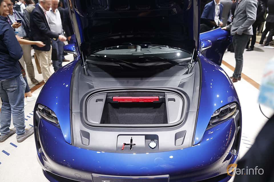 Engine compartment  of Porsche Taycan Turbo  Single Speed, 680ps, 2020 at IAA 2019