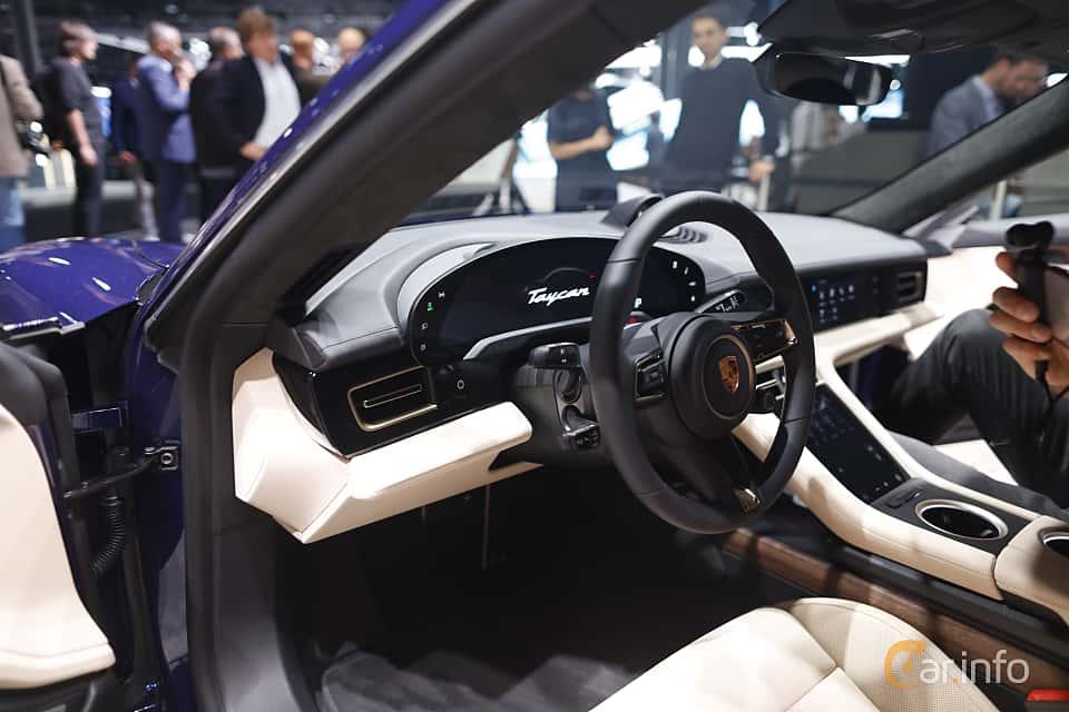 Interior of Porsche Taycan Turbo  Single Speed, 680ps, 2020 at IAA 2019